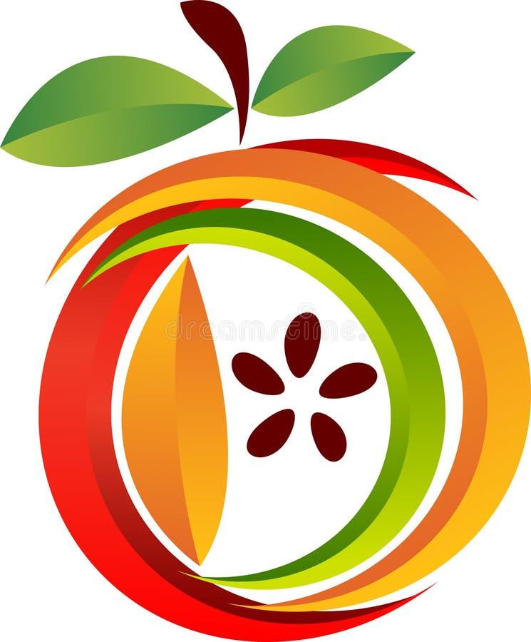 Logotipo de fruta stock de ilustración