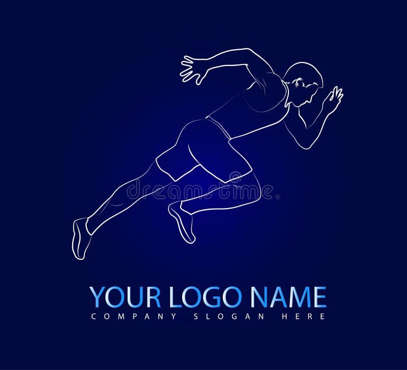Logotipo de funcionamiento del ejemplo del vector stock de ilustración