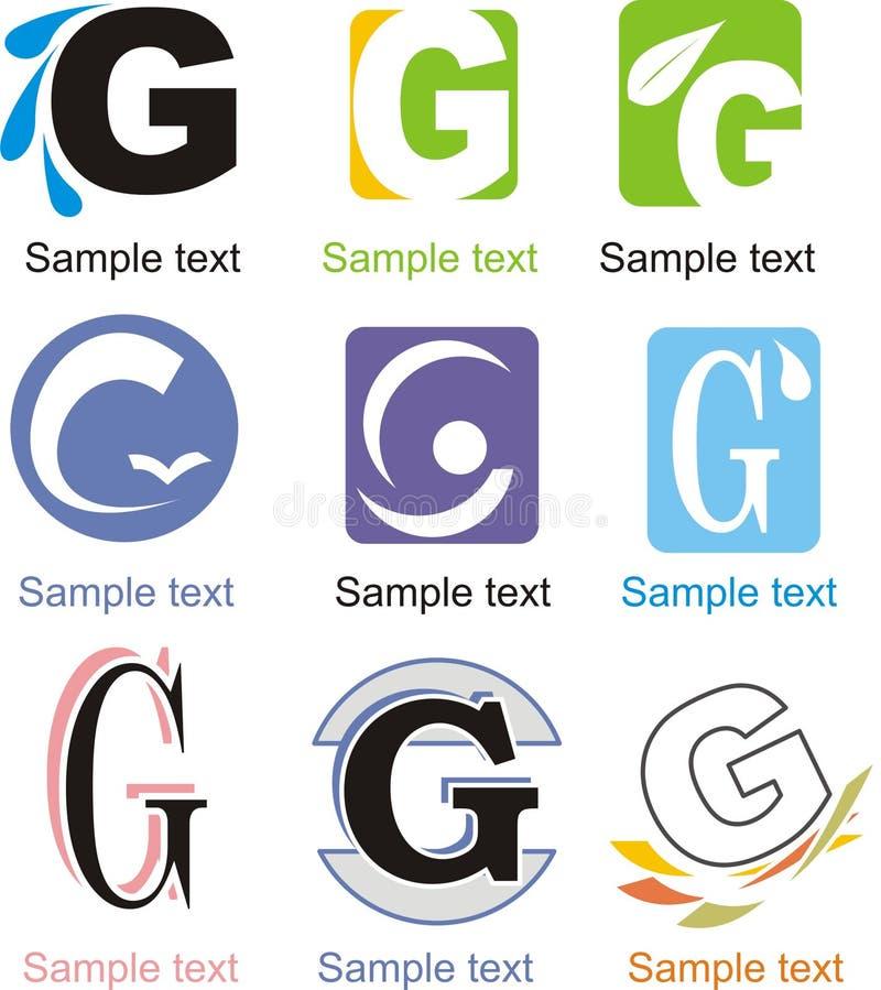 Logotipo de G da letra ilustração royalty free