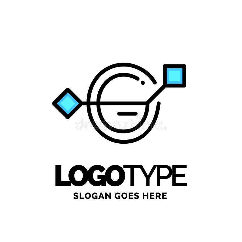 Logotipo de G da letra, vetor incorporado do projeto do logotipo do negócio Azul e w ilustração stock