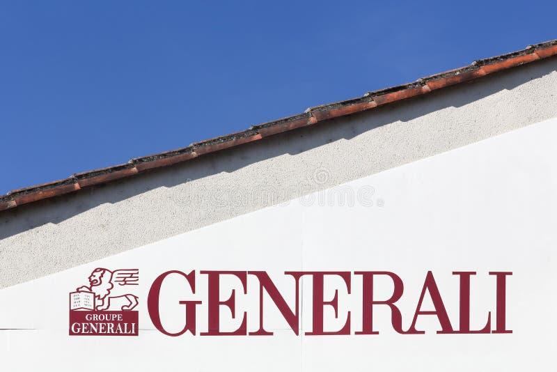 Logotipo de Generali en una pared fotografía de archivo