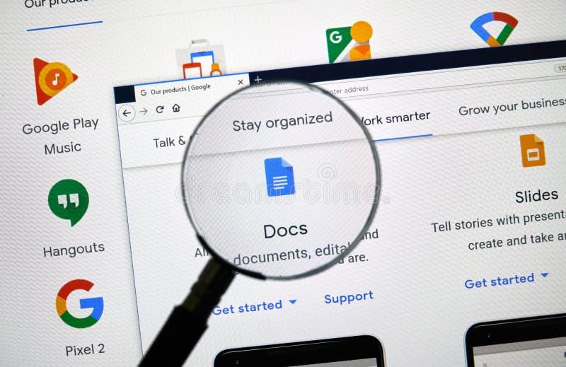 Logotipo de Google Docs imágenes de archivo libres de regalías