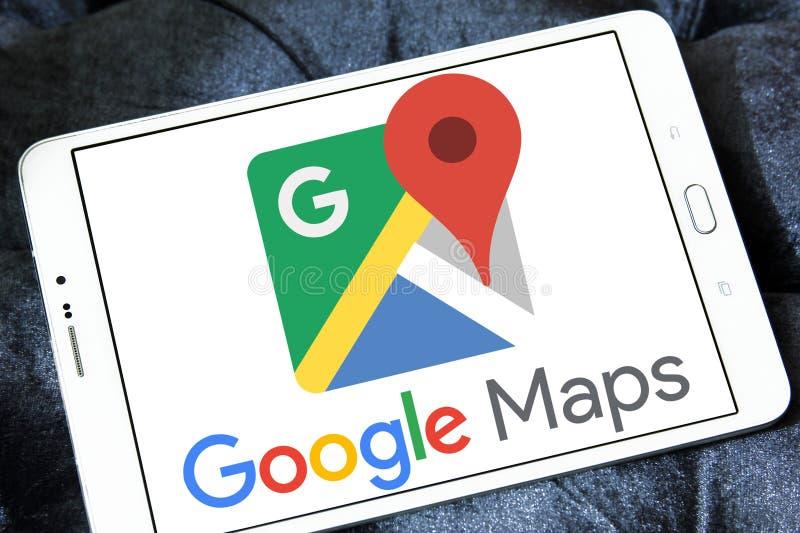 Logotipo de Google Maps imagens de stock