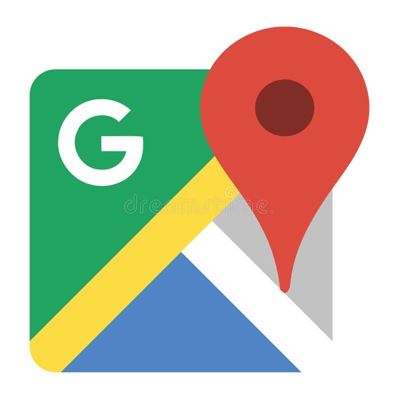 Logotipo de Google Maps ilustração do vetor