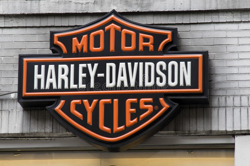 Logotipo de Harley Davidson fotos de stock royalty free
