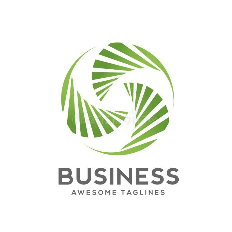 Logotipo de hoja de palma creativo del remolino libre illustration