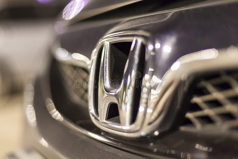 Logotipo de Honda em um carro fotos de stock