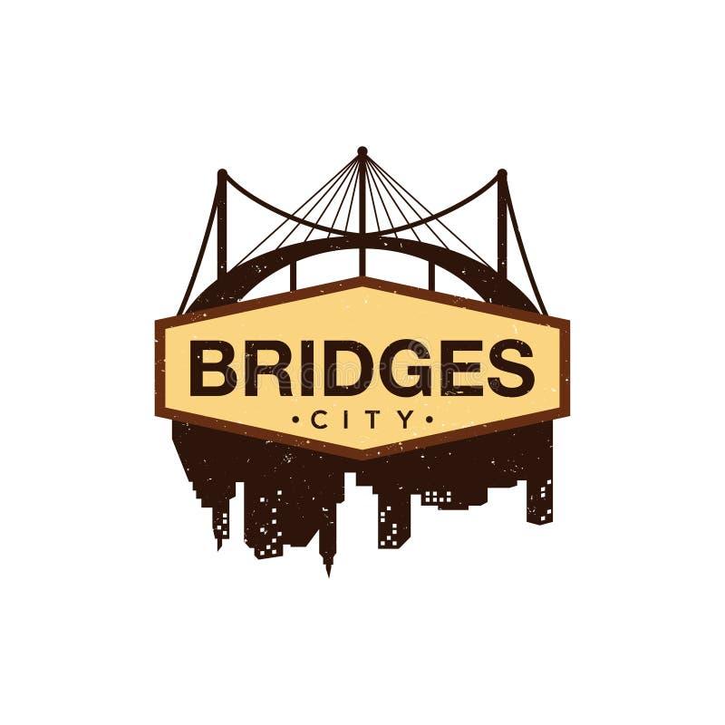Logotipo de Ilustration das pontes ilustração do vetor
