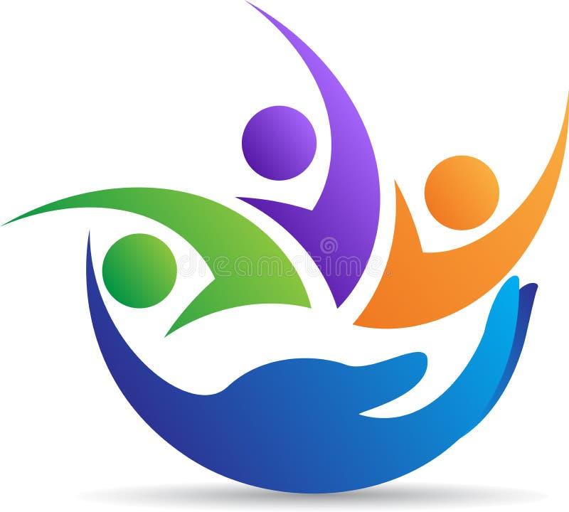 Logotipo de inquietação da família ilustração royalty free