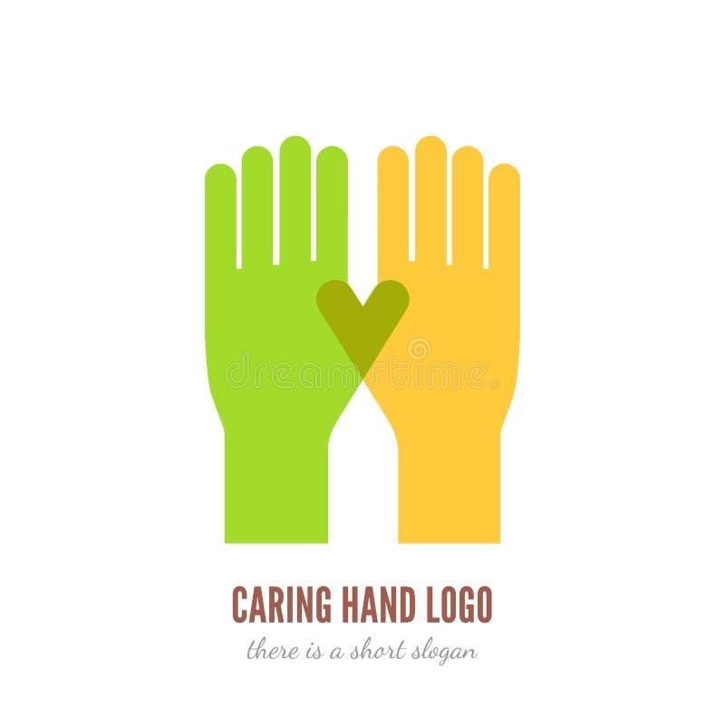 Logotipo de inquietação da mão ilustração royalty free