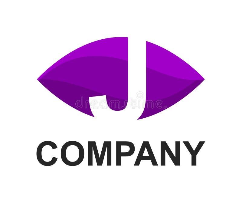 Logotipo de J no oval ilustração royalty free
