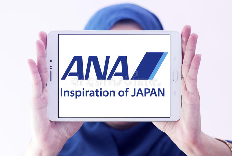 Logotipo de Japón de las líneas aéreas de la anecdotario imagenes de archivo