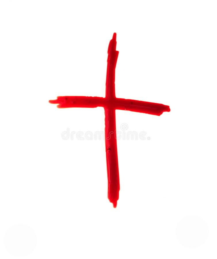Logotipo de Jesus Christ sangue do crucifixo no branco imagem de stock