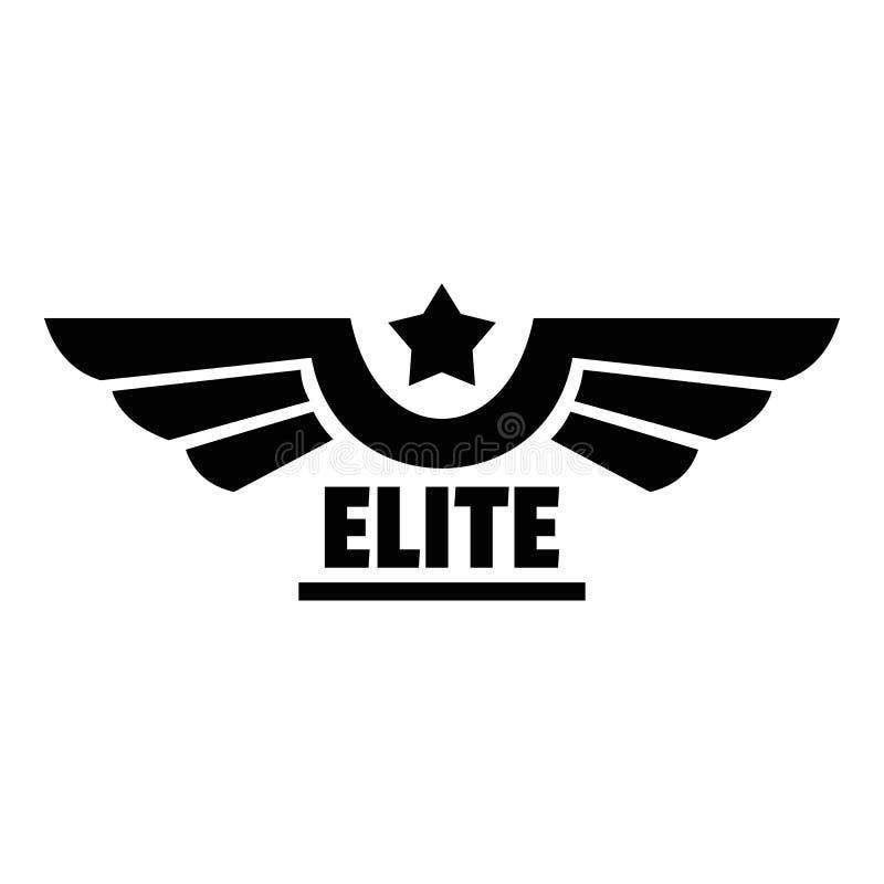 Logotipo de la élite, estilo simple stock de ilustración