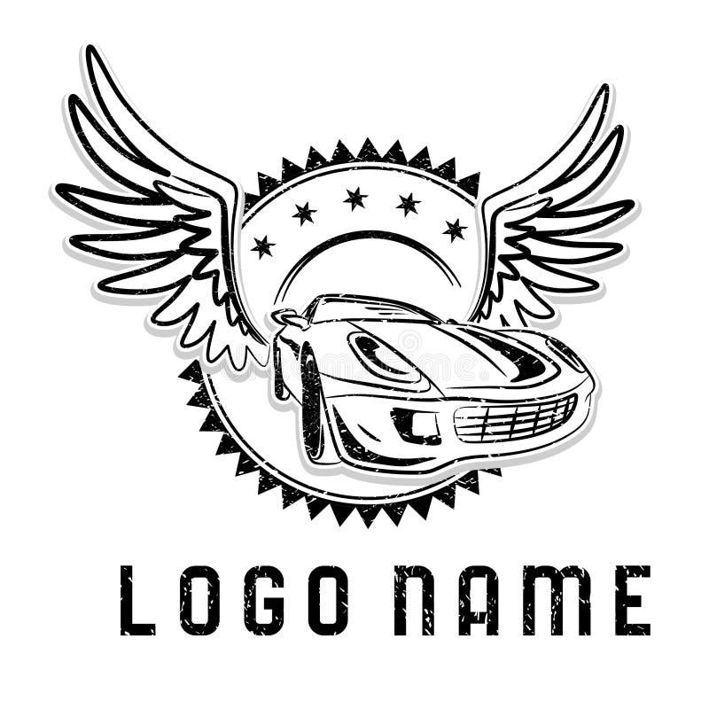 Logotipo de la élite para cualquier servicio del coche ilustración del vector