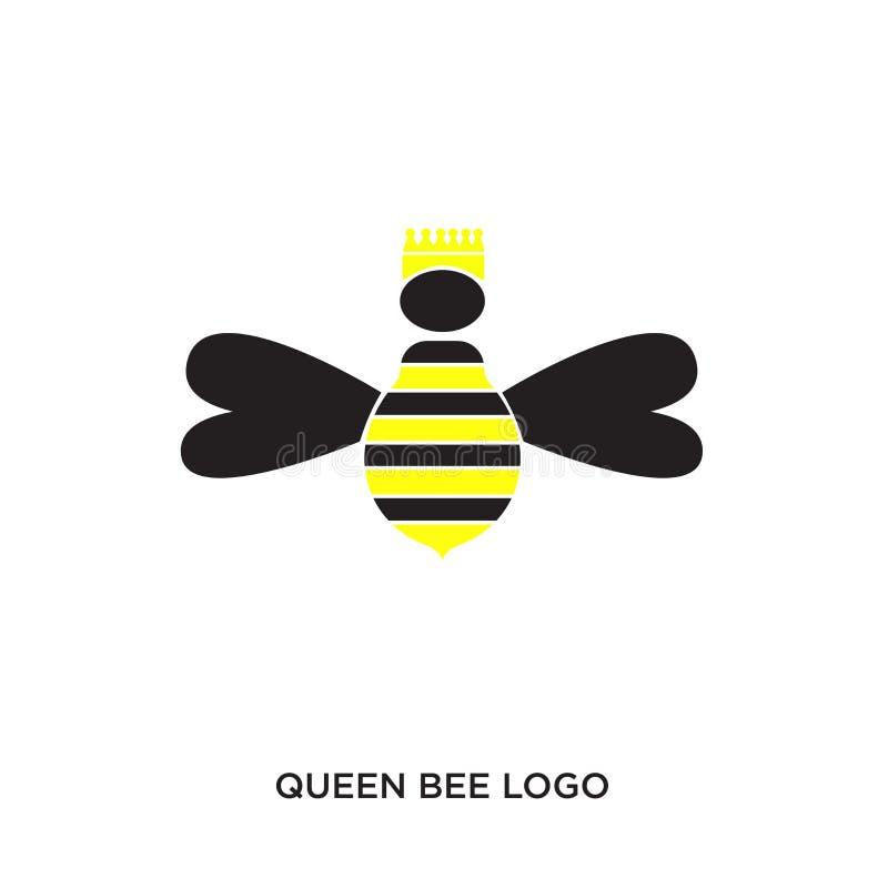 Logotipo de la abeja reina libre illustration