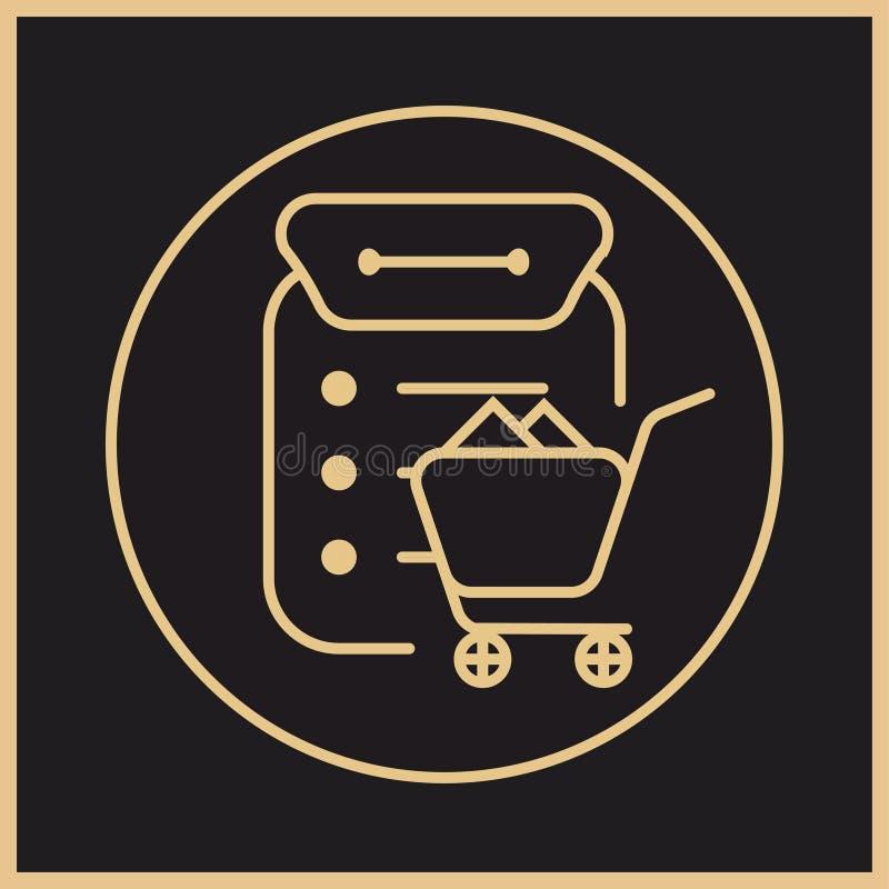 Logotipo de la adquisición como parte del sistema de gestión de la fuente libre illustration