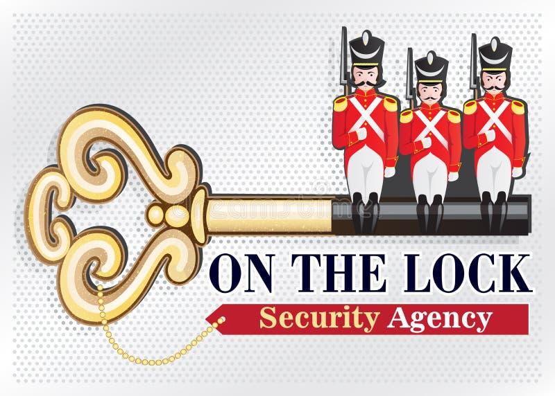 LOGOTIPO de la agencia de seguridad ilustración del vector