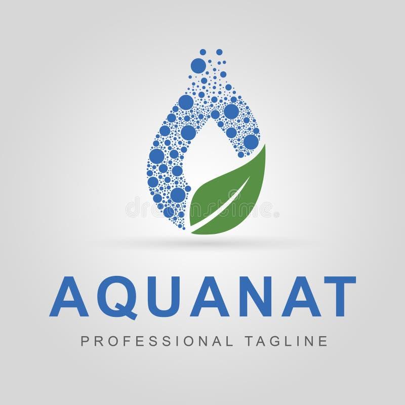 Logotipo de la aguamarina - Aquanat imagenes de archivo