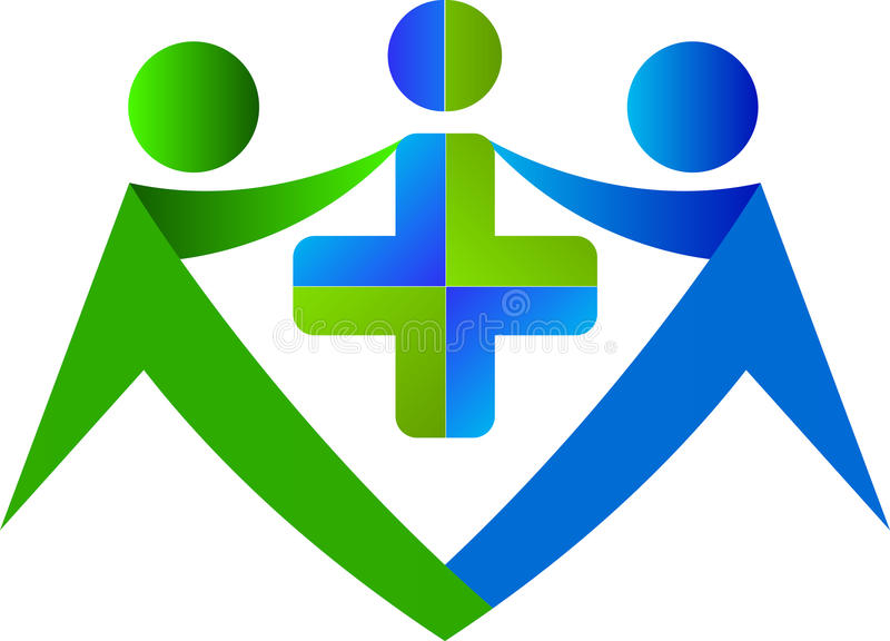 Logotipo de la asistencia médica stock de ilustración