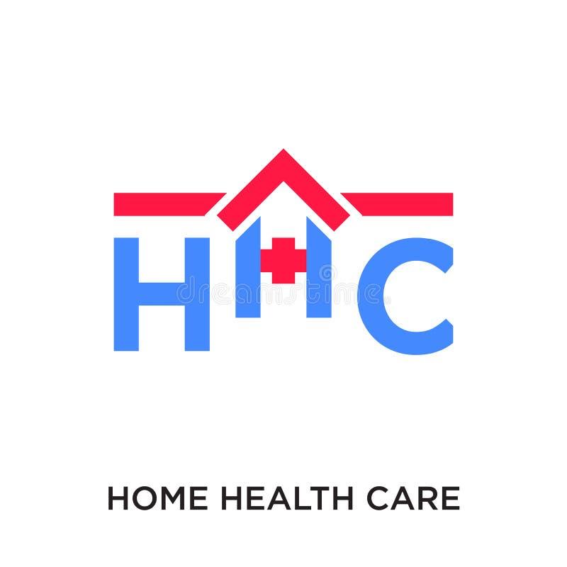logotipo de la atención sanitaria a domicilio aislado en el fondo blanco para su web ilustración del vector