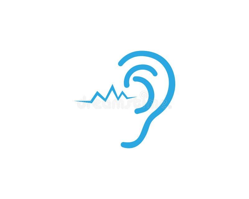 Logotipo de la audiencia del oído e icono del vector libre illustration
