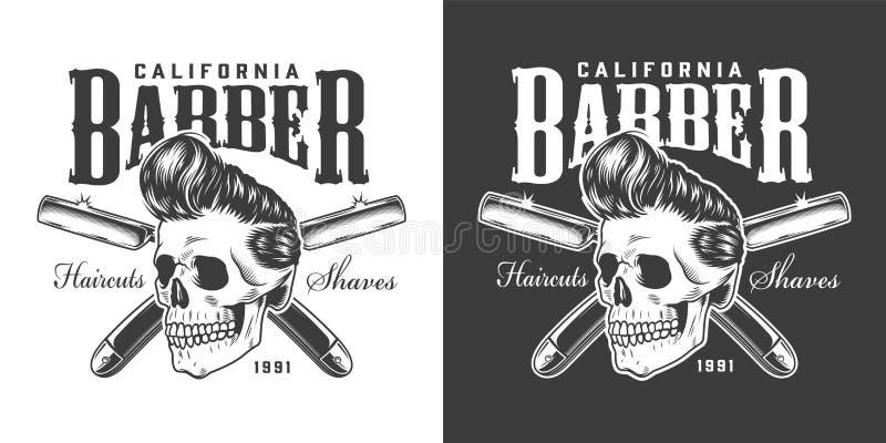 Logotipo de la barbería del vintage ilustración del vector