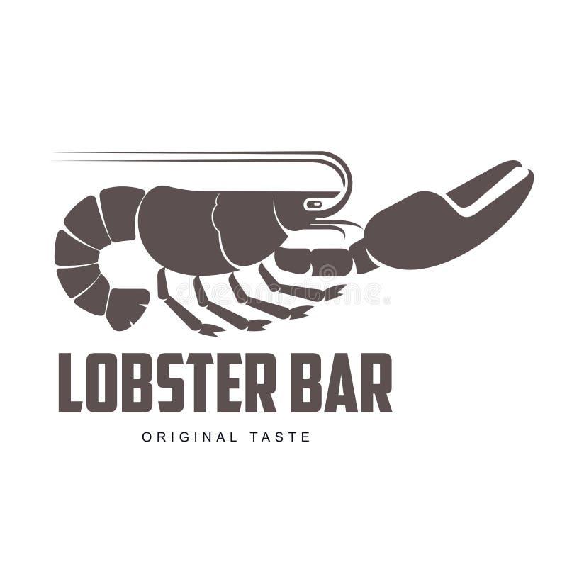 Logotipo de la barra de la langosta libre illustration