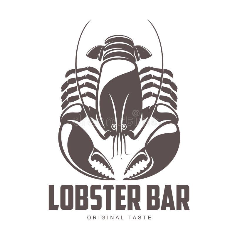 Logotipo de la barra de la langosta stock de ilustración