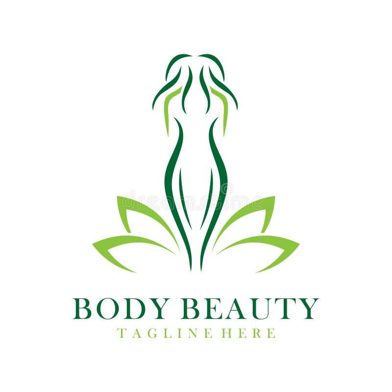 Logotipo de la belleza del cuerpo stock de ilustración