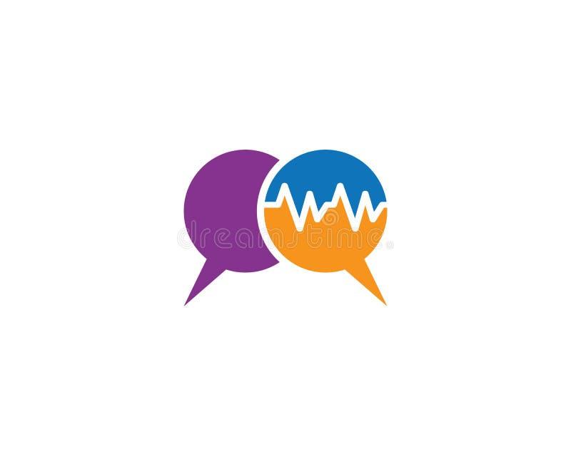 Logotipo de la burbuja del discurso ilustración del vector