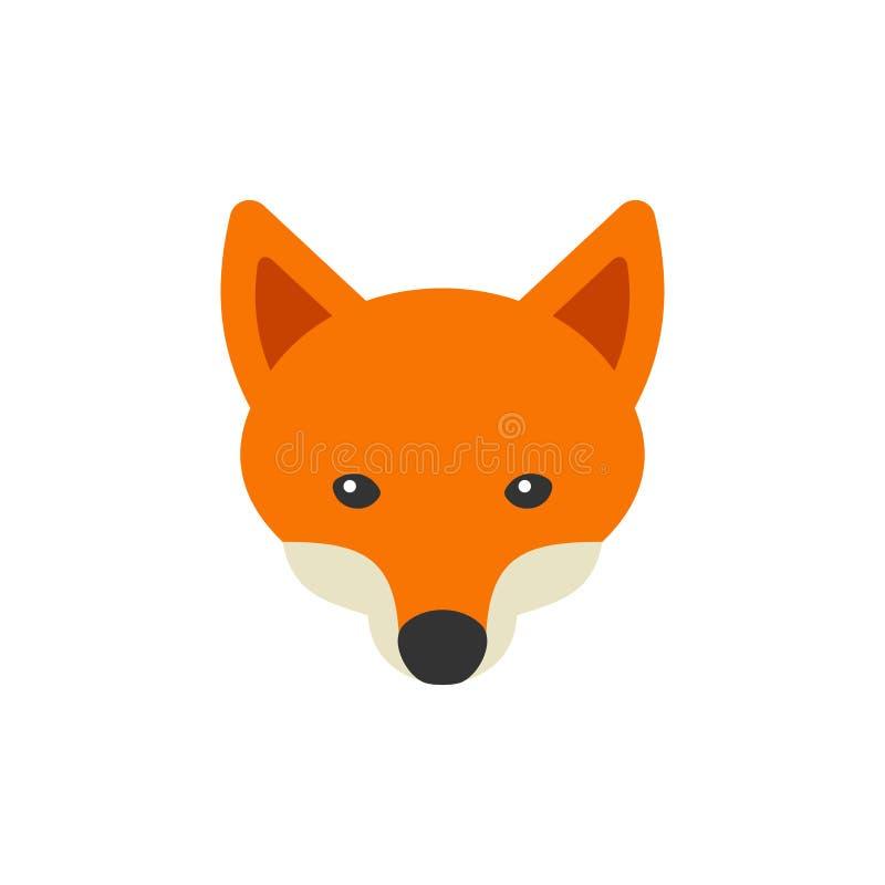 Logotipo de la cabeza del Fox rojo en el fondo blanco Vector stock de ilustración