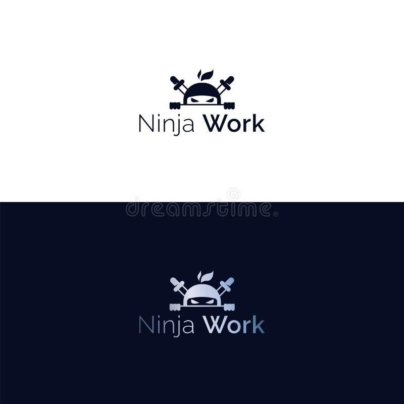 Logotipo de la cabeza del ninja del vector libre illustration
