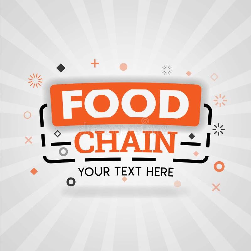 Logotipo de la cadena alimentaria para la educación y las clases de cocina enseñado cocinar las recetas para la cena libre illustration