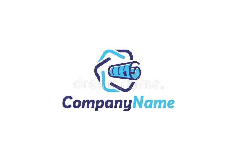 Logotipo de la cadena de bloque del vector libre illustration