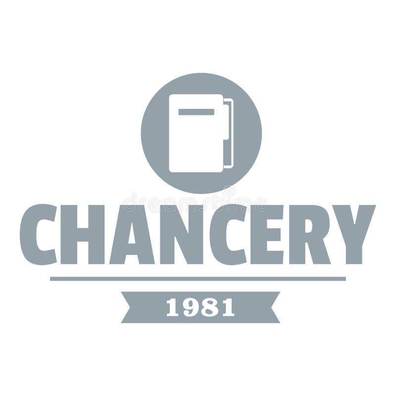 Logotipo de la cancillería, estilo gris simple ilustración del vector