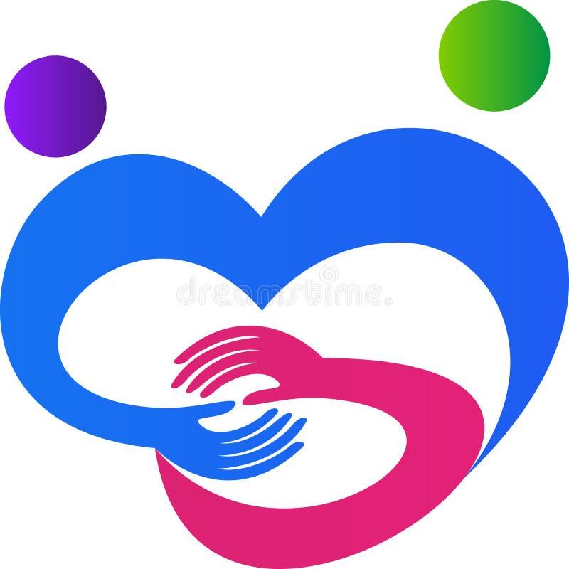 Logotipo de la caridad ilustración del vector