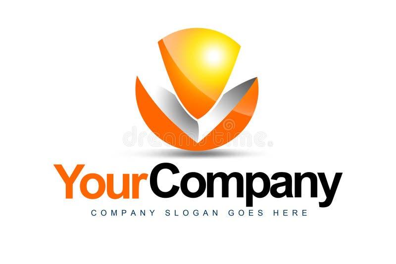 Logotipo de la carta V stock de ilustración