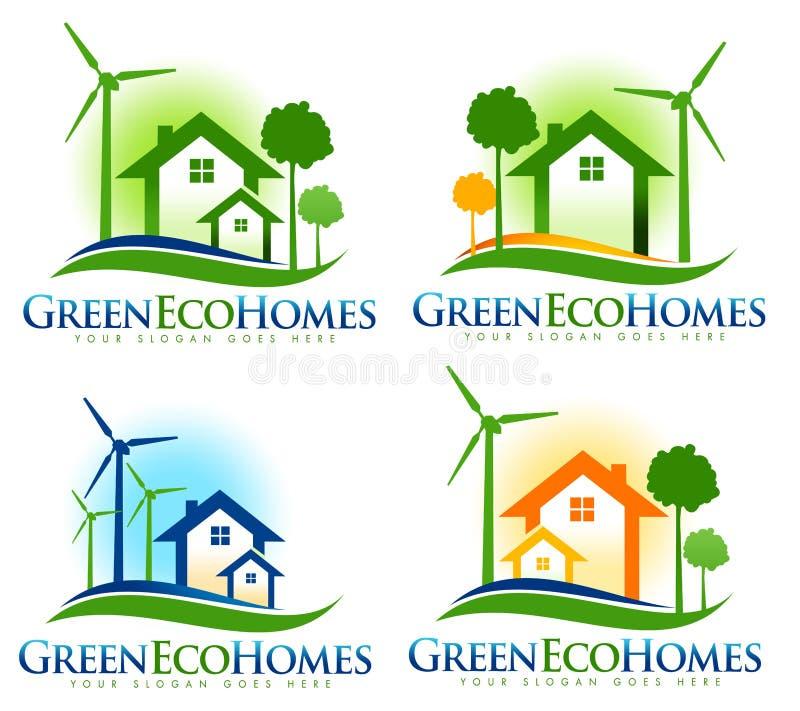 Logotipo de la casa de Eco ilustración del vector