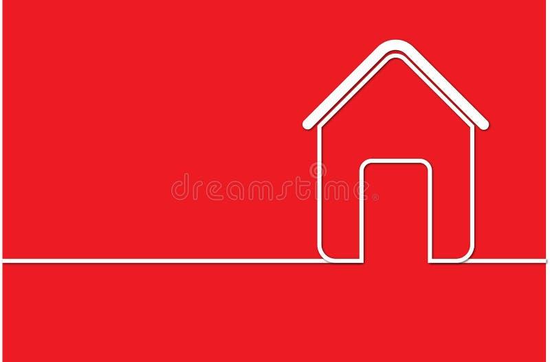 Logotipo de la casa en rojo libre illustration