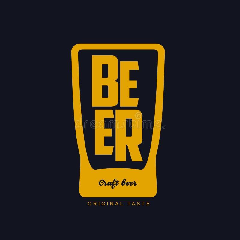 Logotipo de la cerveza del arte stock de ilustración