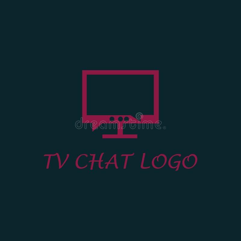 Logotipo de la charla de la TV foto de archivo libre de regalías