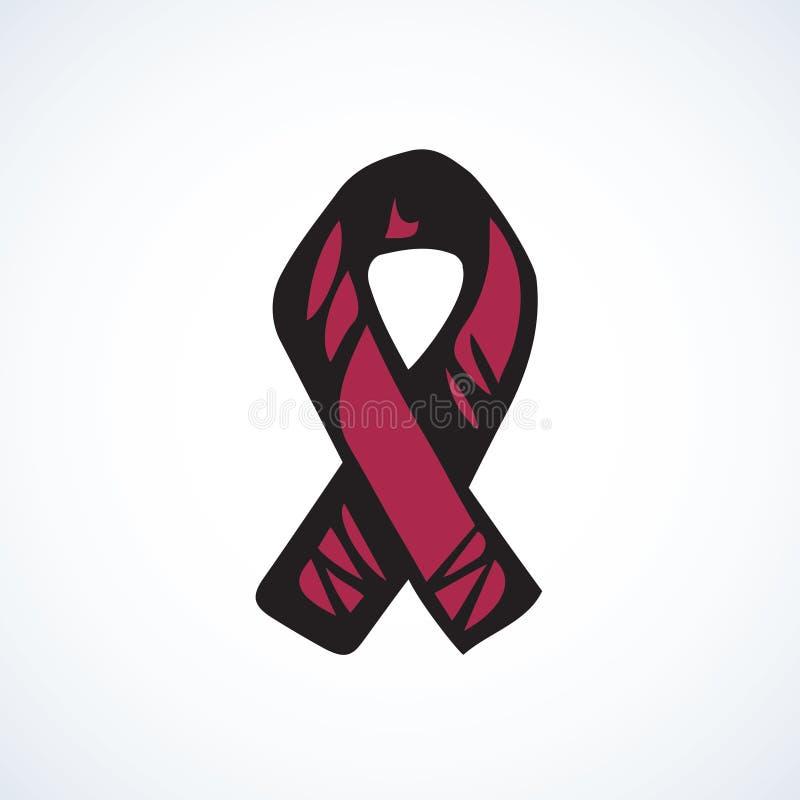 Logotipo de la cinta de la ayuda Gr?fico del vector stock de ilustración
