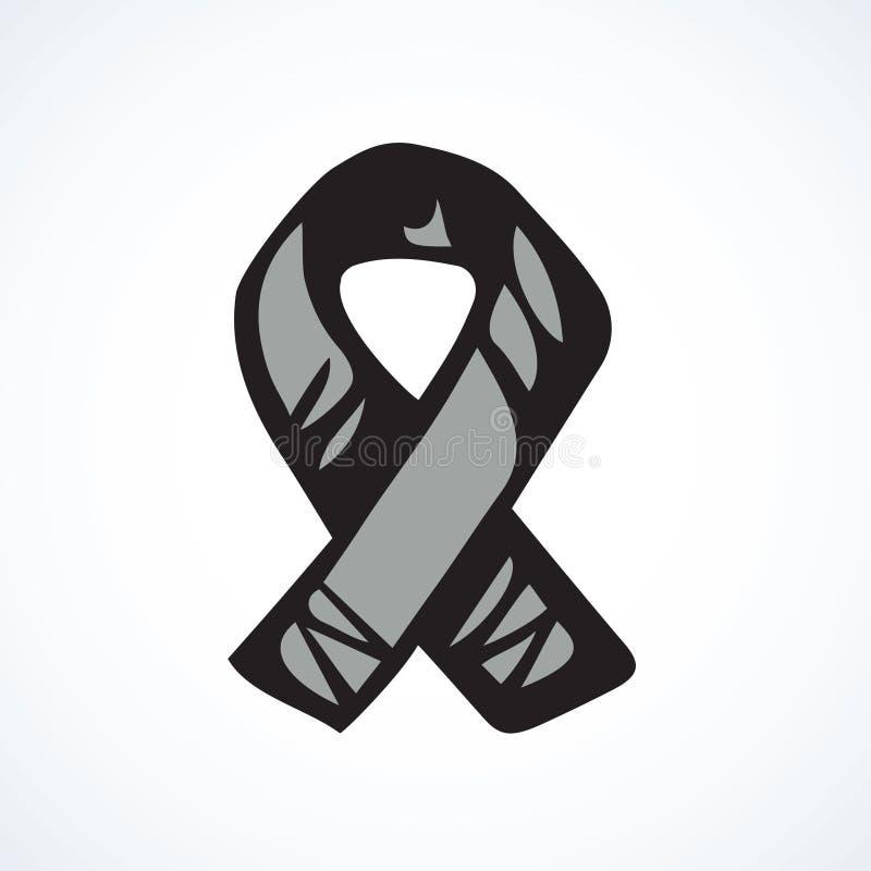 Logotipo de la cinta de la ayuda Gr?fico del vector ilustración del vector