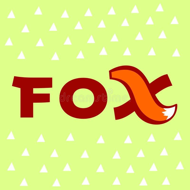 Logotipo de la cola del Fox imagen de archivo libre de regalías