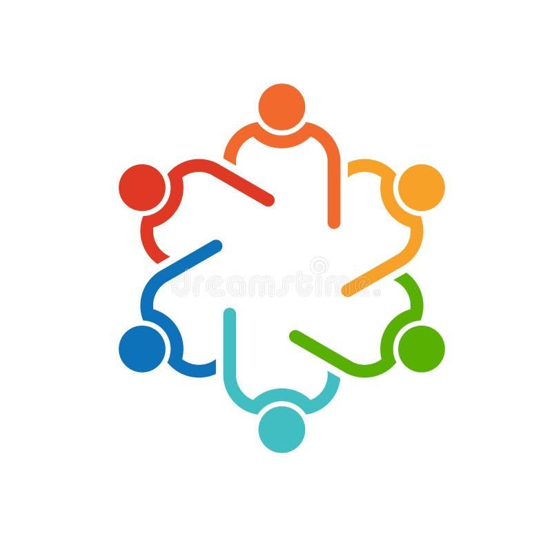 Logotipo de la colaboración del círculo del trabajo en equipo 6 libre illustration