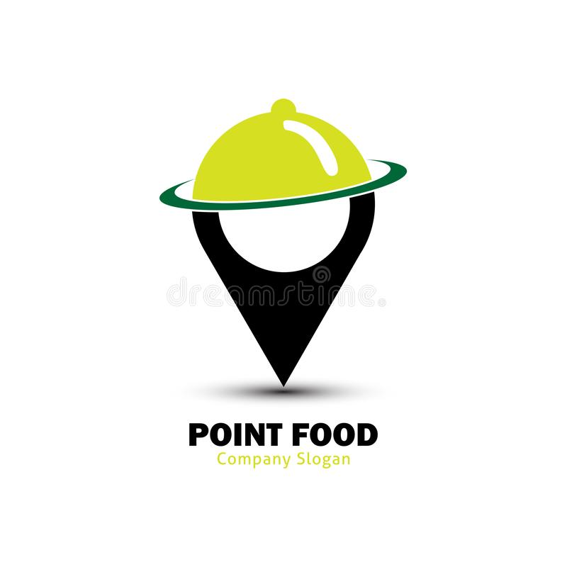 Logotipo de la comida del punto libre illustration