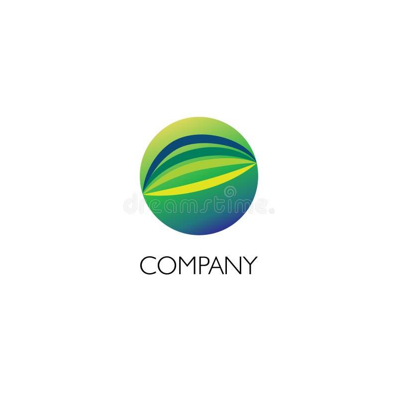 Logotipo de la compañía con el ejemplo de la fibra ilustración del vector