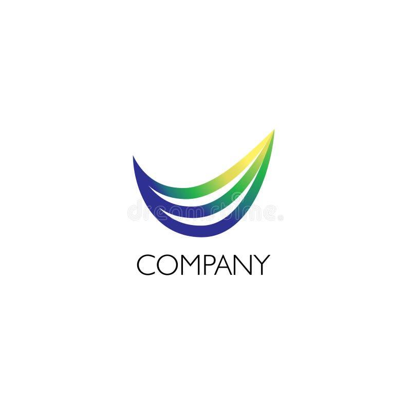 Logotipo de la compañía con el ejemplo de la fibra stock de ilustración