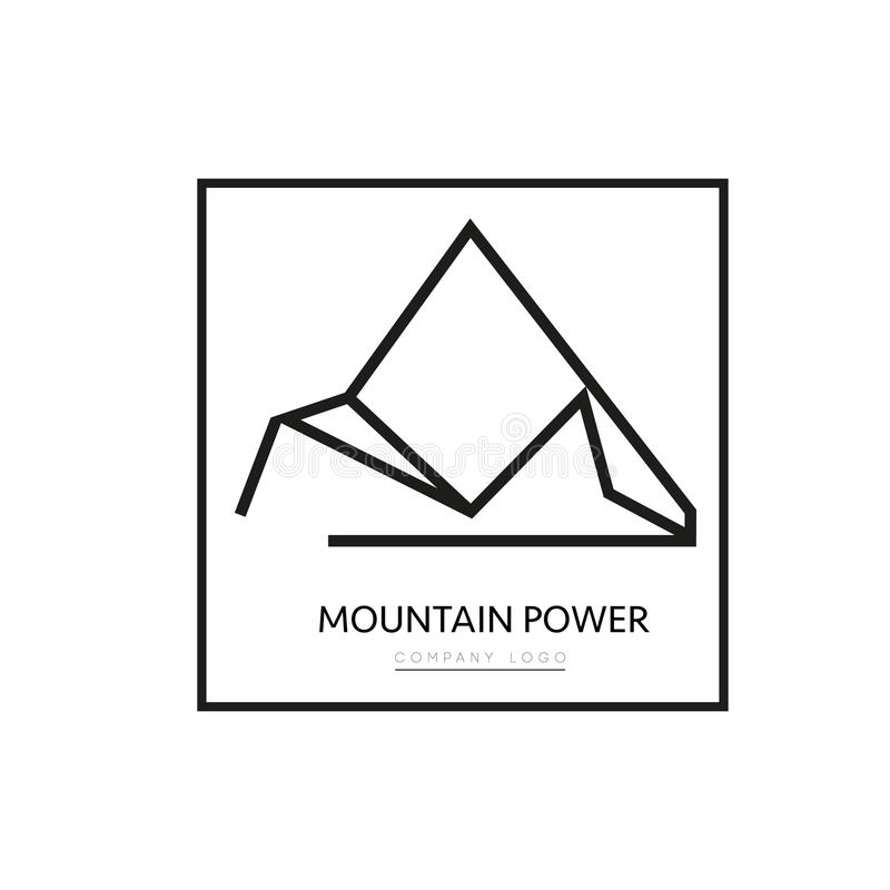 Logotipo de la compañía de la montaña del triángulo del vector fotografía de archivo